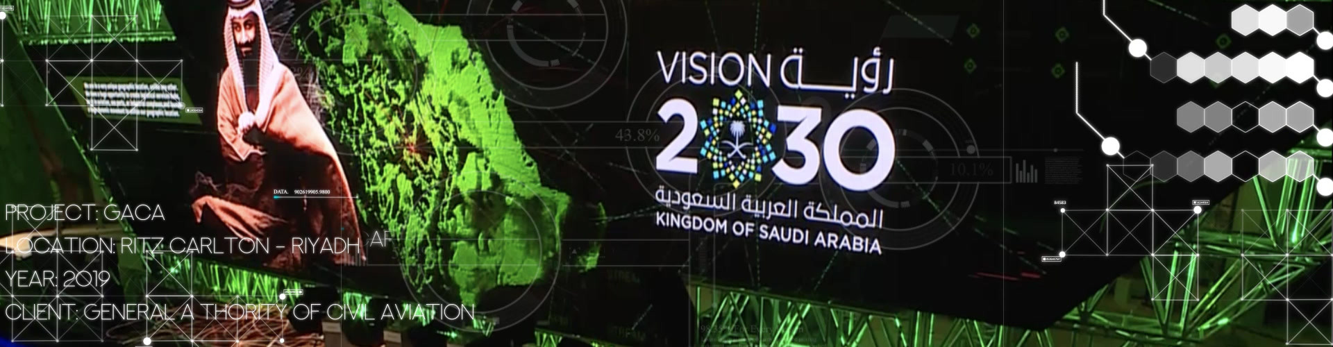 led floor scrcee dance flor 4k technology animation effect LED screen launchc event saudi arabia live mapping 3d projection summit forum conference broadcast online virtual xr vr