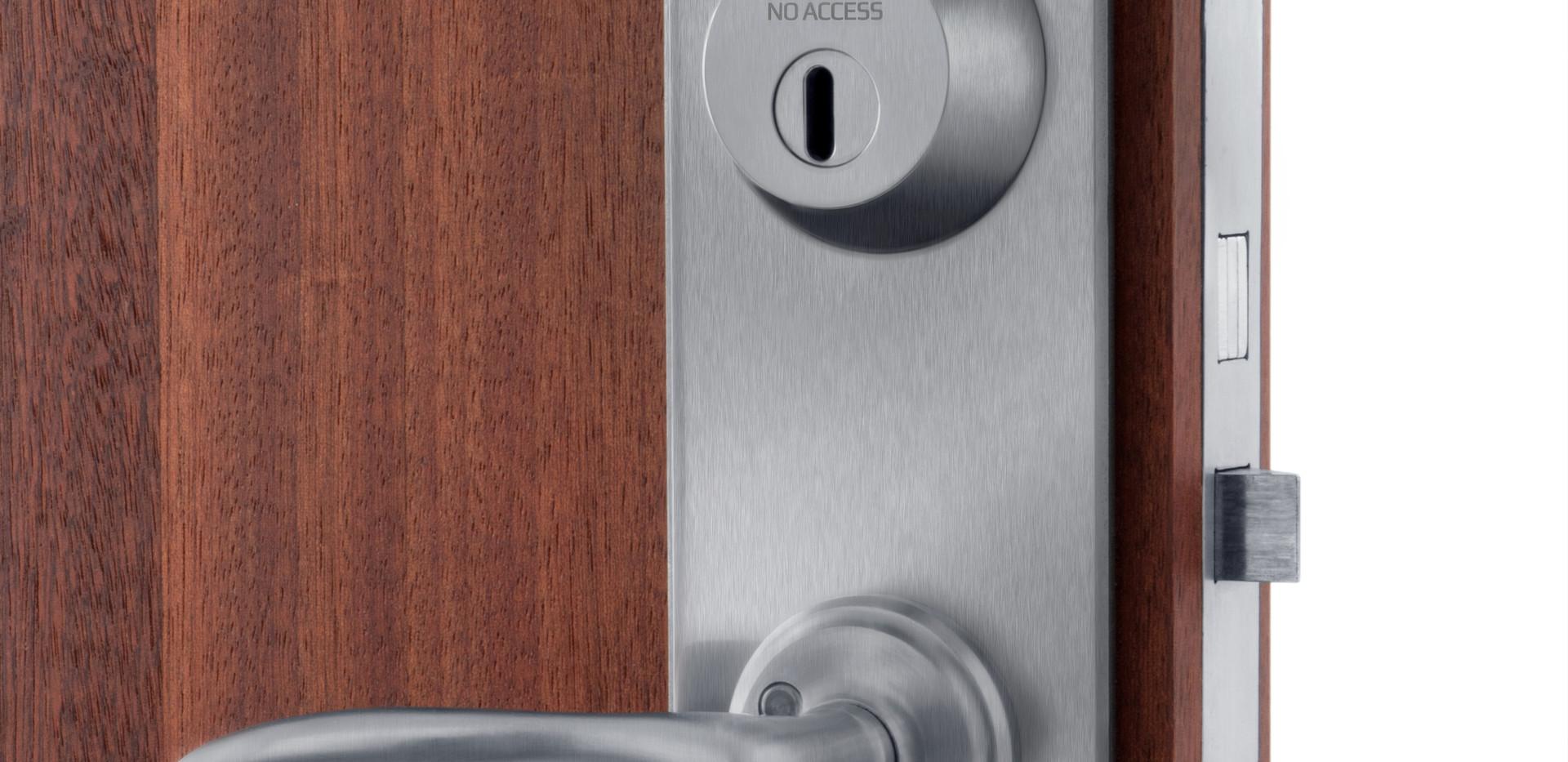 No Access låssystem borstat stål
