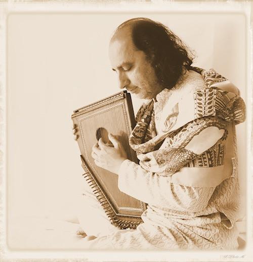 manish vyas with Indian Harp