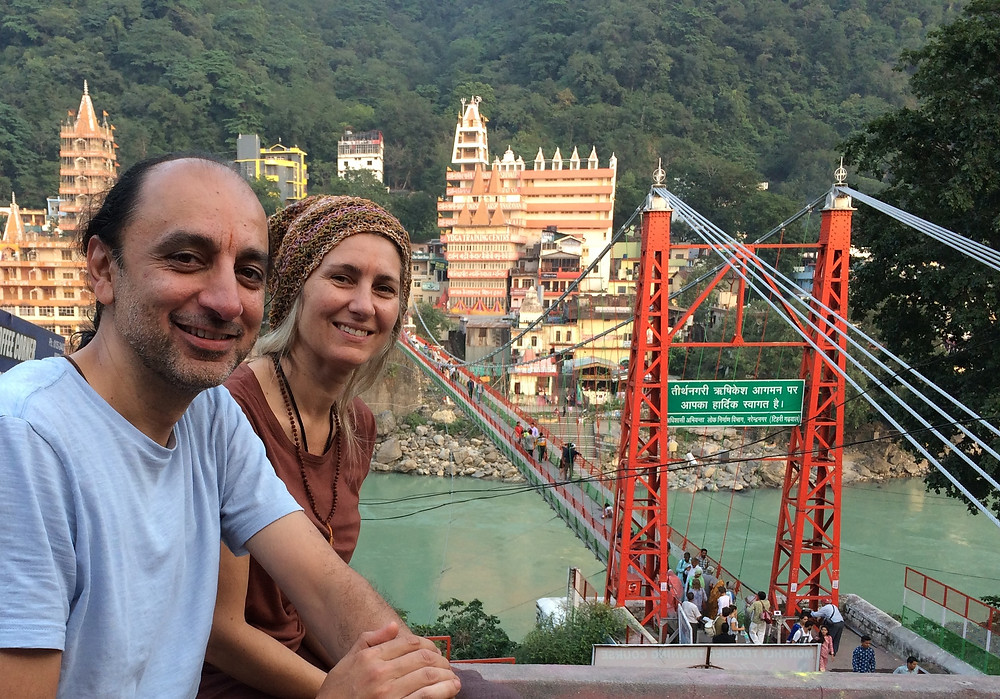 My wife and i in Rishikesh and the magic of India