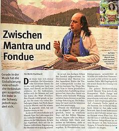 Manish Vyas in Glückspost Magazin Schweiz Mantra und Fondue