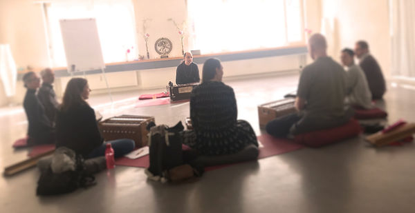 leading a group mantra practice