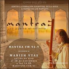 Manish Vyas en vivo Mantra FM 91.9