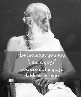 When you say I AM A YOGI, you are not one