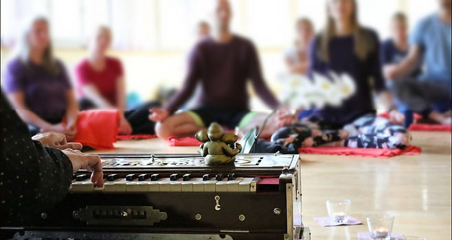 Practice of Mantra and Harmonium playing