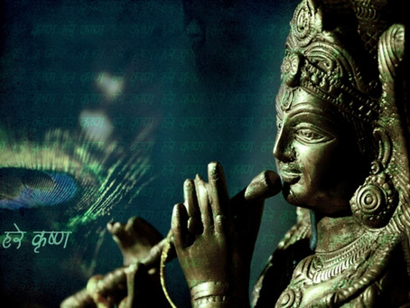 lord krishna, a supreme god in india.