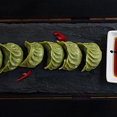 3v. Ravioli saltati vegetariani/Pan-fried veg dumpling/素锅贴
