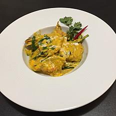 23. Gamberoni al curry giallo/Yellow Curry Jumbo Pawns/黄咖喱大虾