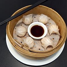 4. Ravioli di gamberi a vapore/Shrimp Dumplings/水晶虾饺