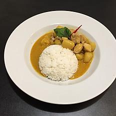 15. Riso con pollo al curry Thai/Rice with Thai Chicken Curry/泰国咖喱鸡饭