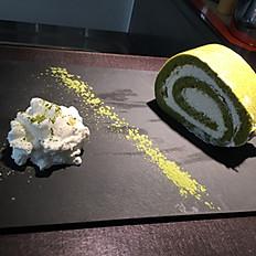 Green tea swiss roll/Roll cake al tè verde e panna/抹茶奶油蛋糕卷