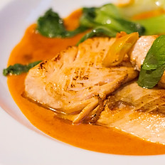 21. Salmone al curry rosso/Red Curry Salmon/红咖喱三文鱼