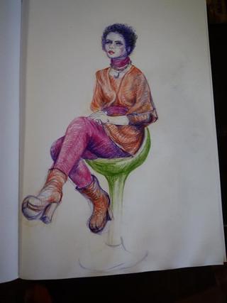 Posing for 12 Artist