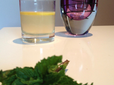 Iced Green Tea with Ginger, Mint & Honey