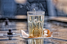 A glass of tea can cheer you up in any weather by Maria Shaigen @shaigenmariia