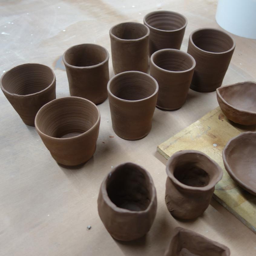 Thrown pots!