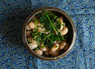 Vaida's butter bean's with spinach