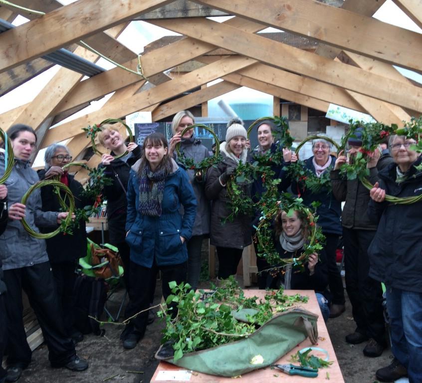 happy wreath bearers