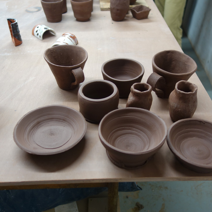Thrown pots