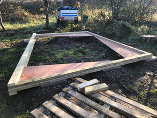 BUILDING THE KITCHEN/CLASSROOM TRUSSES