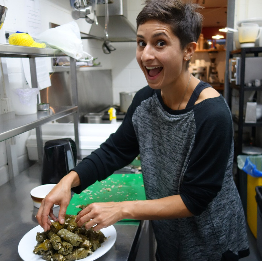 Alice with the stuffed vine leaves