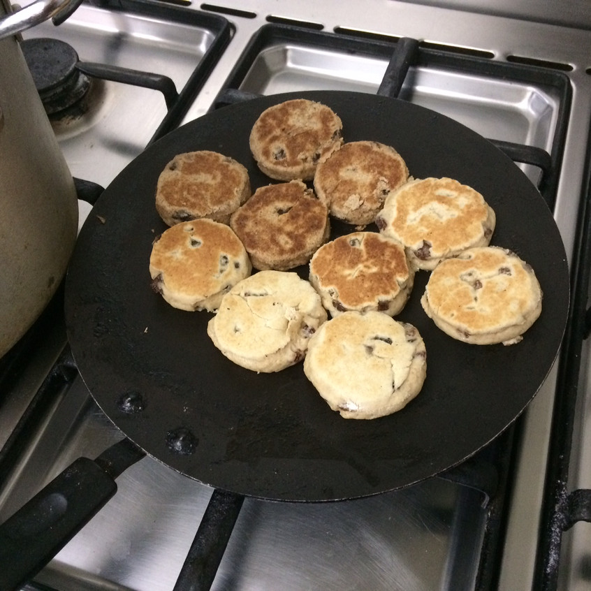 griddling our welsh cakes