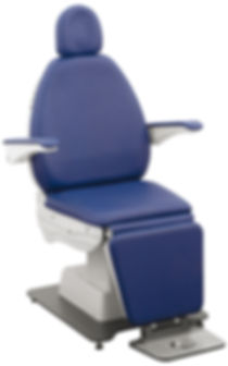 Ophthalmic exam chair for diagnostic lane