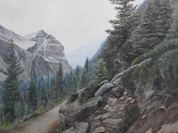 Narrow Mountain Path - Lake Louise (2019)