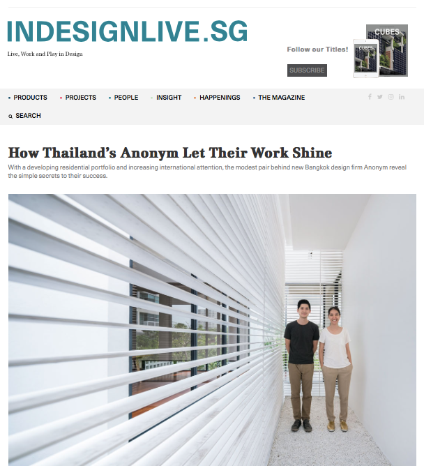 Indesignlive.sg: How Thailand's Anonym Let Their Work Shine