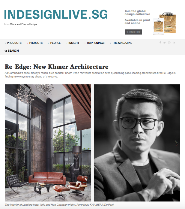 Indesignlive.sg: New Khmer Architecture