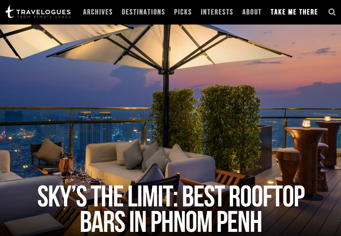 Remote Lands Travelogues: Best Rooftop Bars in Phnom Penh