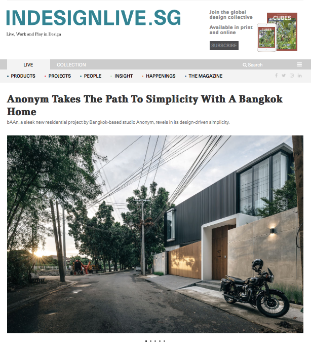 Indesignlive.sg: Anonym Takes The Path To Simplicity With A Bangkok Home