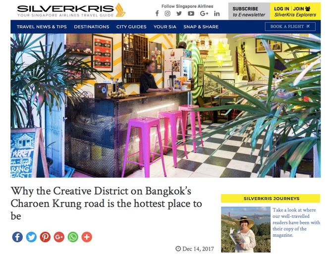 SilverKris: Why the Creative District on Bangkok's Charoen Krung road is the hottest place to be