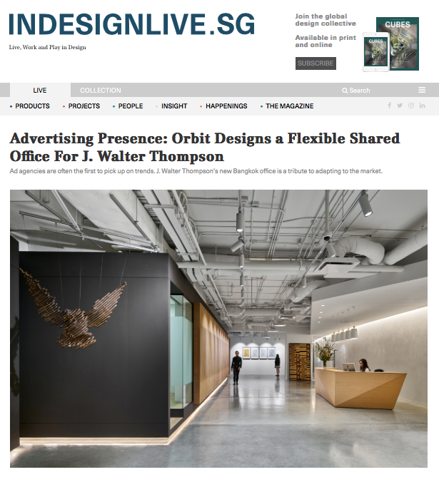 Indesignlive.sg: Orbit Designs a Flexible Shared Office For J. Walter Thompson