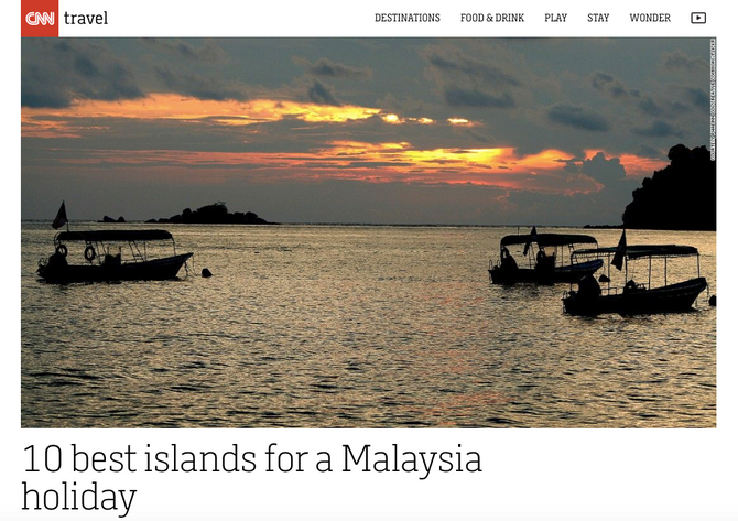 CNN Travel: 10 best islands for a Malaysia holiday