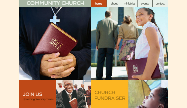 Religion & Non Profit website templates – Community Church