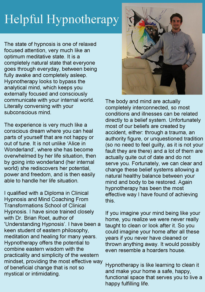 Helpful Hypnotherapy article no.2