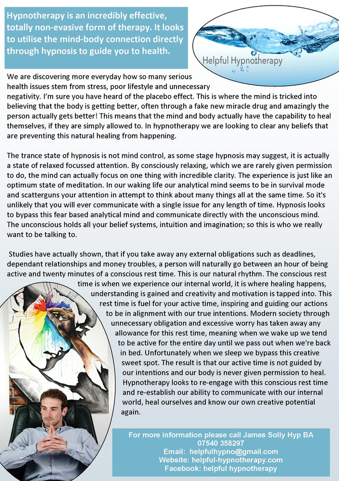 Helpful Hypnotherapy Article No.3