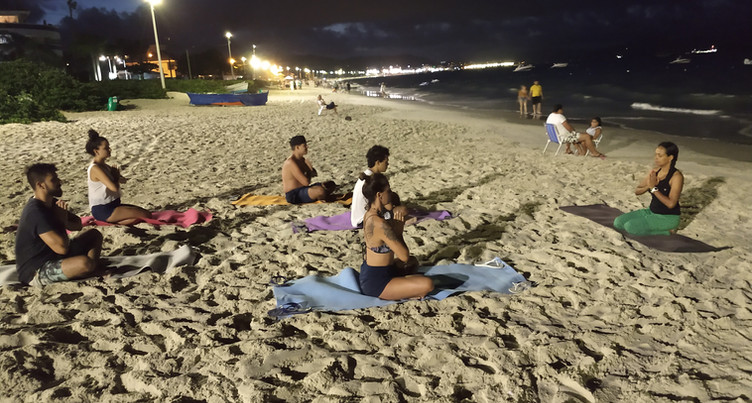 Yoga no Reveillon em Florianopolis