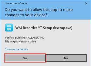 User Account Control Acknowledgement