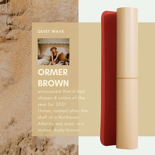 CLESIGN VIVID HEARTBEAT ORMER BROWN YOGA MAT