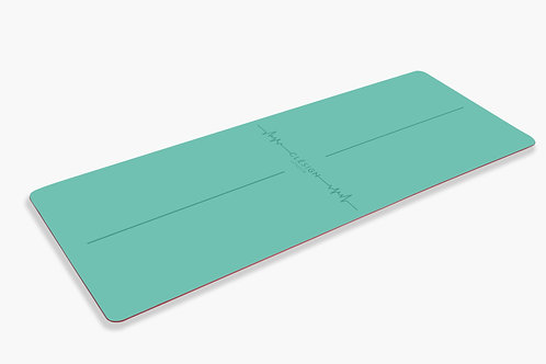 CLESIGN VIVID HEARTBEAT TURQUOISE YOGA MAT