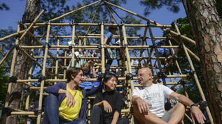 Hong Kong bamboo climbing frame project aims to change how children play