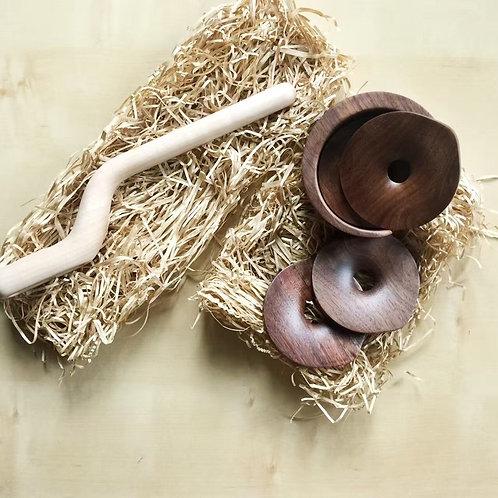 High quality black walnut wood Insulation pads 純手工製作