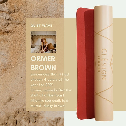 CLESIGN VIVID ORMER BROWN YOGA MAT