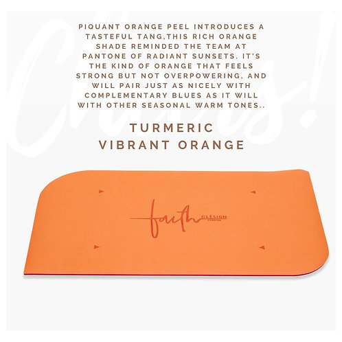 The Faith Hand Mat - VIBRANT ORANGE