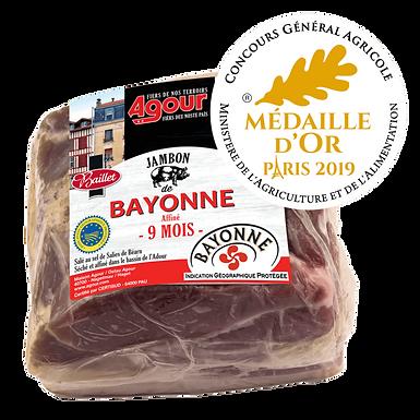 🇫🇷 1/2 JAMBON DE BAYONNE IGP DESOSSE 2,5 KG (9 MOIS D'ÂGE)