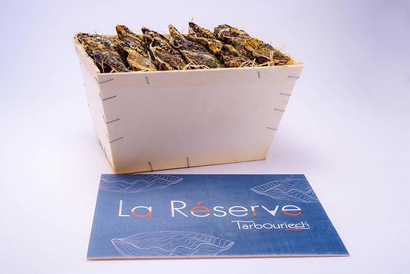 """🇫🇷 BOURRICHE HUITRES """"La Réserve"""" N°3    (31,-/huître)"""
