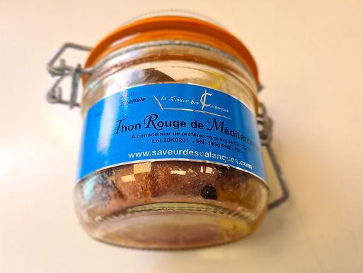 🇫🇷 THON ROUGE DE MÉDITÉRRANÉE  à l'huile d'olive AOP des Baux de Provence 195g