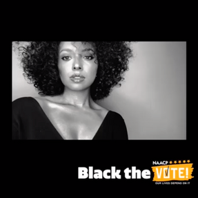 Kat Graham joined NAACP's Black The Vote campaign.
